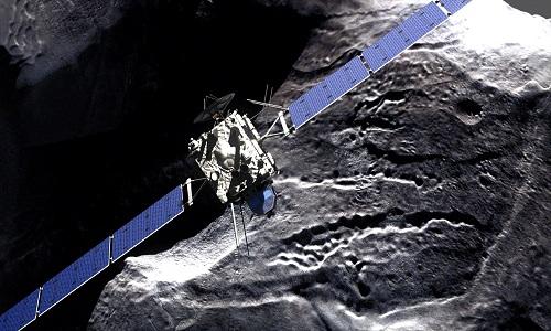 Tàu vũ trụ Rosetta sẽ kết thúc 12 năm trong vũ trụ bằng vụ va chạm với bề mặt sao chổi. Ảnh: PBS.