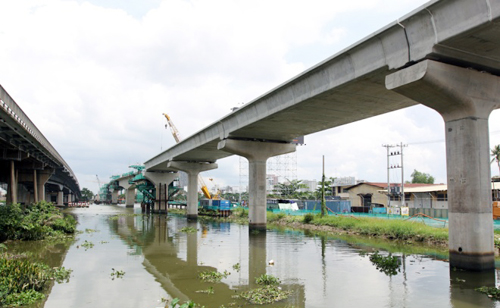 TP HCM hợp long cầu vượt sông Sài Gòn của tuyến metro số 1