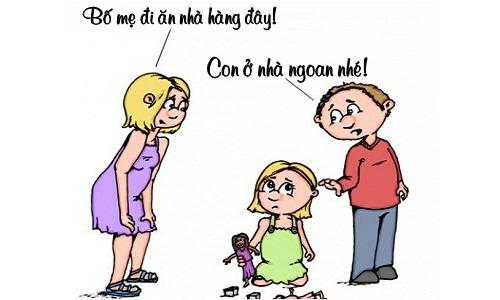 Con gái bất bình trước lý do bố mẹ đi ăn mảnh
