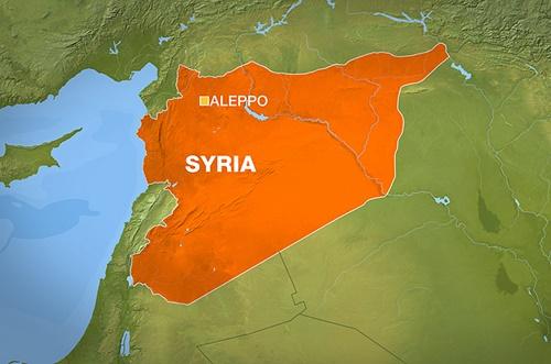 Vị trí thành phố Aleppo, Syria. Đồ họa: Al Jazeera.