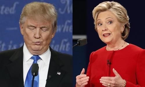 Ứng viên tổng thống đảng Cộng hòa Donald Trump (trái) và đảng Dân chủ Hillary Clinton. Ảnh: Reuters.