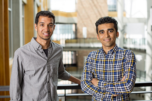 The research team includes UW electrical engineering doctoral students Vikram Iyer (left), Mehrdad Hessar (right) and computer science and engineering assistant professor Shyam Gollakota (not pictured).
