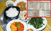 Hai người ăn cơm rau bình dân hết 1,5 triệu ở Hà Nội nóng nhất mạng XH