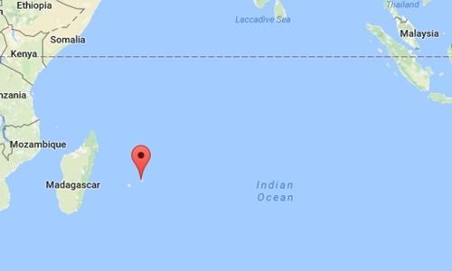 Vị trí đảo Mauritius. Đồ hòa: Google Maps