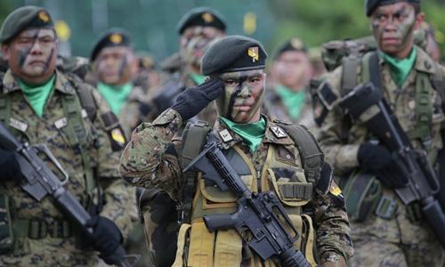 Binh sĩ quân đội Philippines. Ảnh: AFP.