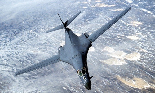 Máy bay ném bom chiến lược B-1 Lancer của không quân Mỹ có tốc độ bay siêu thanh. Ảnh: Wiki.