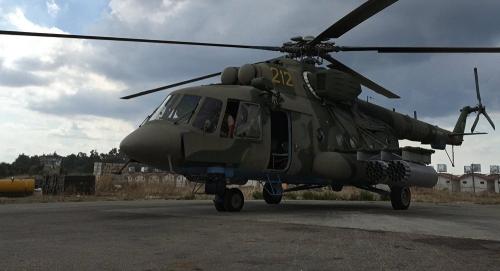 Trực thăng Mi-8 của Nga ở căn cứ