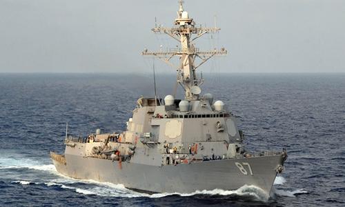 Tàu chiến mang tên lửa đạn đạo USS Mason của hải quân Mỹ. Ảnh: US Navy.