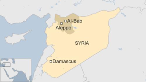 Vị trí thành phố Aleppo, Syria. Đồ họa: BBC.