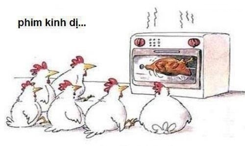 Phim kinh dị của loài gà.