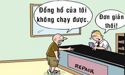 Chàng trai thiệt hại vì thợ sửa đồng hồ quá siêu