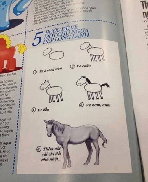 5 bước đơn giản để vẽ một chú ngựa đẹp long lanh.