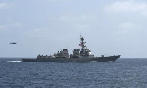 Tàu USS Mason. Ảnh: US Navy.