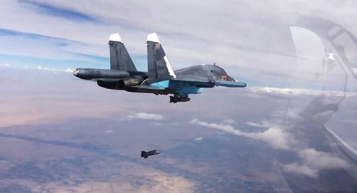Không quân Nga không kích phiến quân IS ở Syria. Ảnh: RT.