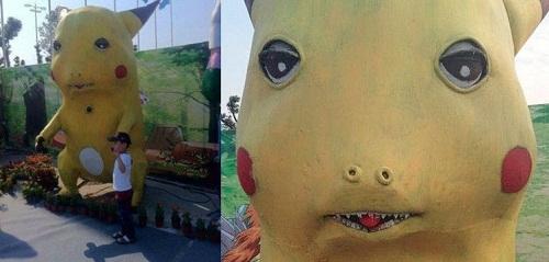 Pikachu phiên bản kinh dị.
