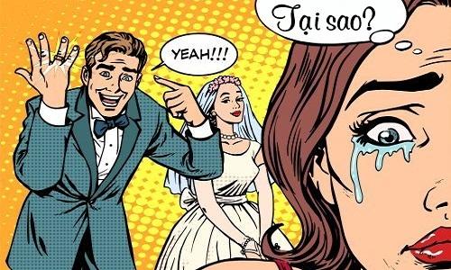 Cô gái tức giận vì bạn trai quá vâng lời