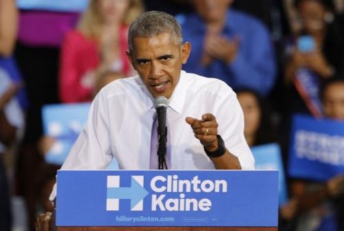 Tổng thống Mỹ Barack Obama phát biểu tại Miami hôm 20/10. Ảnh: AFP