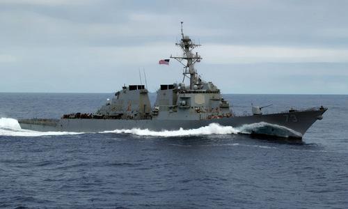 USS Decatur trong quá trình cơ động trên biển. Ảnh: Wikipedia
