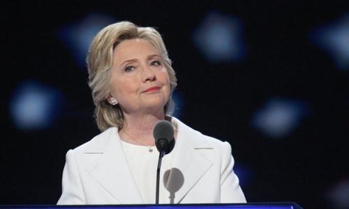 Ứng viên tổng thống Mỹ đảng Dân chủ Hillary Clinton. Ảnh: Rex