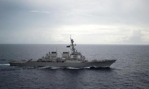 Tàu USS Decatur. Ảnh: Reuters.