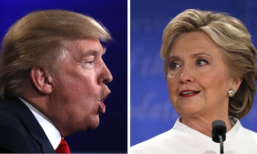 Ứng viên tổng thống Donald Trump, đảng Cộng hòa (trái), và Hillary Clinton, đảng Dân chủ. Ảnh: reuter.s
