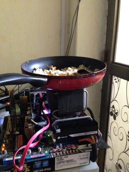 Nấu ăn phong cách công nghệ.