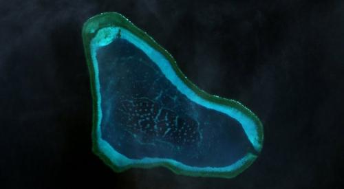 Bãi cạn Scarborough tranh chấp giữa Trung Quốc và Phillippines. Ảnh: Wikipedia