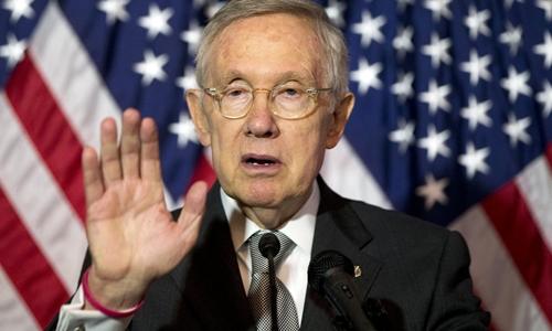 Thượng nghị sĩ đảng Dân chủ Harry Reid. Ảnh: AP.