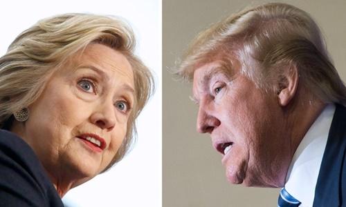 Hillary Clinton (trái) và Donald Trump. Ảnh: LA Times
