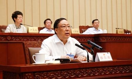 Cảnh Huệ Xương khi còn giữ chức Bộ trưởng An ninh Quốc gia Trung Quốc. Ảnh: Sina.
