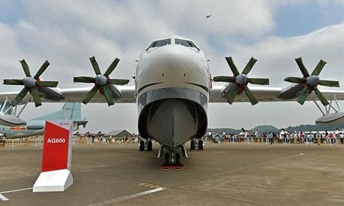 Thủy phi cơ AG600 do Trung Quốc tự nghiên cứu, chế tạo. Ảnh: Xinhua.