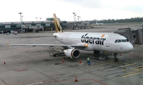 Một phi cơ của Tigerair. Ảnh: Strait Times.