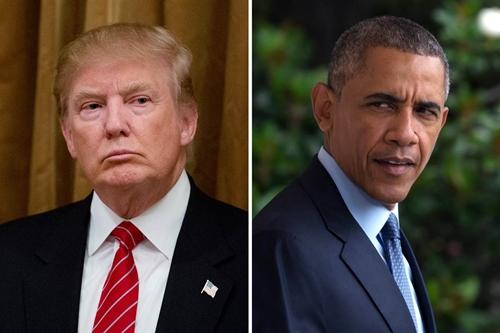 Donald Trump (trái) và Tổng thống Barack Obama. Ảnh: NBC News.