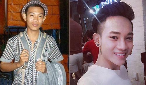 Hoàng Sơn trước và sau khi phẫu thuật thẩm mỹ. Ảnh: Nhân vật cung cấp.