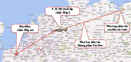 Mig-23 Liên Xô đã gây náo loạn không phận một số khu vực nó bay qua. Ảnh : War History.