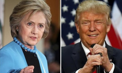 Hillary Clinton (trái) và Donald Trump. Ảnh: Reuters.