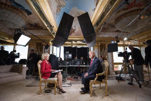 Tổng thống đắc cử Donald Trump trong chương trình 60 Minutes của CBS. Ảnh: Zero Hegde.