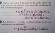 Những đề toán tiểu học khó đỡ khiến người lớn chào thua