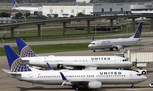 Một máy bay của hãng hàng khôngUnited Airlines. Ảnh: AP