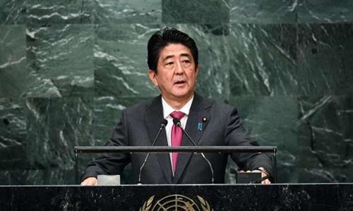 Thủ tướng Nhật Shinzo Abe. Ảnh: AFP.