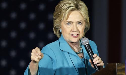 Bà Hillary Clinton. Ảnh: AP.