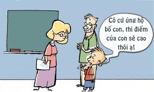 Con điểm cao nhờ bố được cô giáo ủng hộ -  ngày 20/11, ngày nhà giáo Việt Nam, truyện cười ngày 20/11