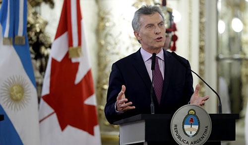 Tổng thống ArgentinaMauricio Macri. Ảnh: AP