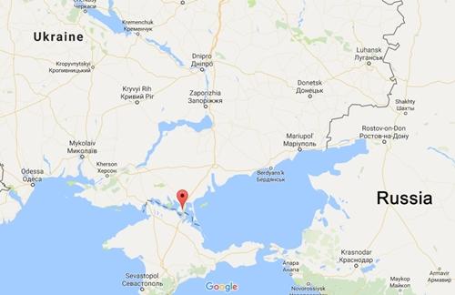 Vị trí Chongar, Ukraine. Đồ họa: Google Maps.