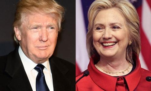 Tổng thống đắc cử Donald Trump (trái) và bà Hillary Clinton, ứng viên tổng thống đảng Dân chủ. Ảnh: AP.