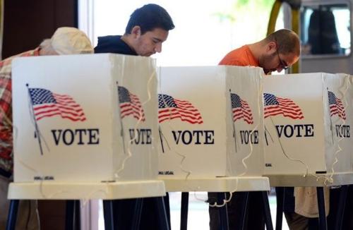 Cử tri Mỹ bỏ phiếu. Ảnh: