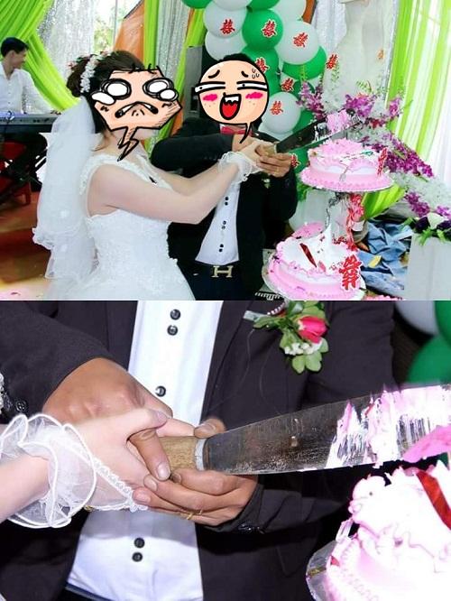 Đời người chỉ một lầm cắt bánh cưới.