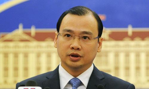 Người phát ngôn Bộ Ngoại giao Lê Hải Bình. Ảnh: Quý Đoàn