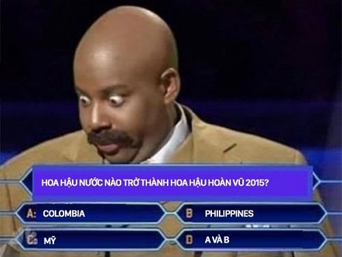 Câu hỏi này chắc chắn sẽ làm khó vị MC đọc nhầm Steve Harvey trong cuộc thi Hoa hậu hoàn vũ 2015.