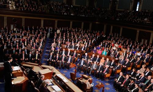 Một phiên họp quốc hội Mỹ. Ảnh: Reuters.